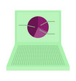 flat icon on stylish background laptop chart vector image vector image
