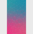 flat vertical double color gradient triangle vector image vector image