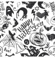 fun horror seamless pattern vector image