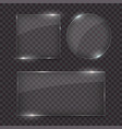 glass plates set different shapes vector image