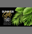 golden metallic summer sale lettering on a bright vector image vector image