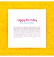 Happy Birthday Paper Template vector image vector image