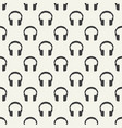headphones seamless pattern vector image