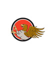 Hippogriff Prancing Side Circle Cartoon vector image vector image