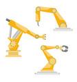 industrial robots set vector image vector image