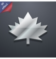 Maple leaf icon symbol 3D style Trendy modern vector image