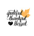 maple leaf with grateful vector image vector image