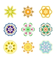 Nine color patterns radially vector image