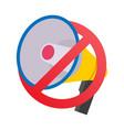 no megaphone no speaker prohibition sign vector image