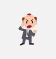 old businessman screams angry in aggressive vector image