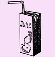 pack juice drinking straw vector image