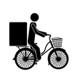 package delivery worker icon image vector image vector image