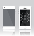 password on white phone vector image vector image