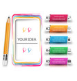 pencil education icon business infographic vector image vector image