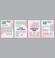 pink feminine brochure template