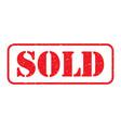 red sold stamp logo vector image