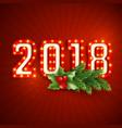 retro 3d numeric 2018 vector image vector image