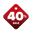 Sale fourty percent pricetag red vector image vector image