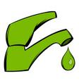 save water icon cartoon vector image