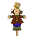 scarecrow doll cute character vector image vector image