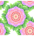 seamless watercolor flower abstract mandala vector image vector image