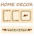 Set decorative pillows vector image