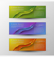 set of banners template with headline vector image
