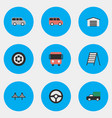 set of simple shipping icons elements family vector image vector image