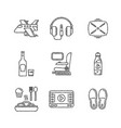 set of travel icons in sketch style vector image vector image