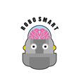 Smart robot Emblem of Biomechanics of human brain vector image