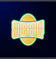 sport emblem typography super baby hero logotype vector image vector image