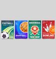 sport games flyer basketball baseball football vector image