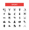 sport thin line icons linear flat vector image vector image
