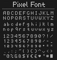 square pixel font videogame alphabet in retro vector image vector image