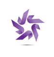 star ribbon logo vector image vector image