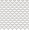 stars line fence seamless pattern vector image