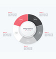stylish pie chart circle infographic template 5 vector image vector image