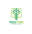 Tech tree logo concept vector image