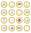 thailand icon circle vector image vector image