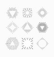 tribal boho sun burst vintage starburst logo vector image