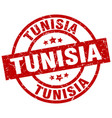 tunisia red round grunge stamp vector image vector image