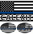 USA flag blue stripe calexit vector image