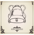 Vintage Christmas card Bell vector image vector image
