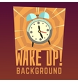 Wake up background vector image vector image