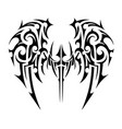 wings tattoo tribal art vector image vector image