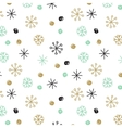 background with hand drawn snowflakes and vector image