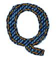 Farmerke tekstura slovo Q vector image