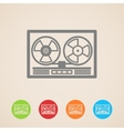 reel tape recorder icons vector image