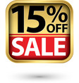 15 off sale golden label with red ribbon