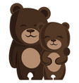 a male and a female bear hugging each other on vector image